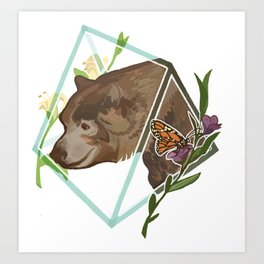 Monarch the California Grizzly Bear Art Print