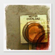 motor overload 1 Canvas Print
