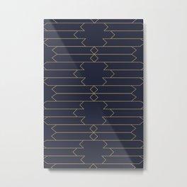 Minimalist Art Deco Style Metal Print