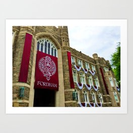 Keating Hall at Fordham University Commencement  Art Print