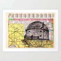 oklahoma Art Prints featuring Oklahoma by Ursula Rodgers