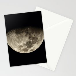 Moon Black 4 Stationery Cards