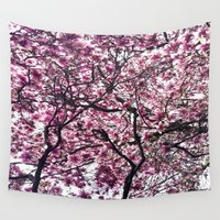 cherry Wall Tapestries featuring Cherry by alicia kiah