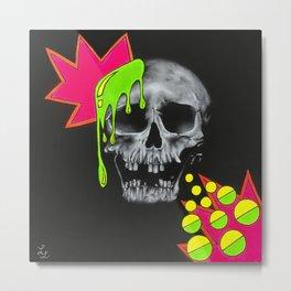 Skull Splash Metal Print