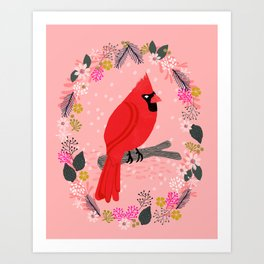 Northern Cardinal by Andrea Lauren  Art Print