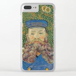 Vincent van Gogh - Portrait of Postman Roulin Clear iPhone Case