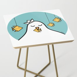 The Seagull and The Origami Fishes Side Table