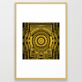 Yellow Sunflower Card Deck Cover Framed Art Print