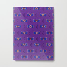 Back to the 90's Pattern Metal Print