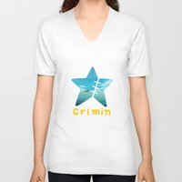 one piece V-neck T-shirts featuring One Piece Crimin by POP42