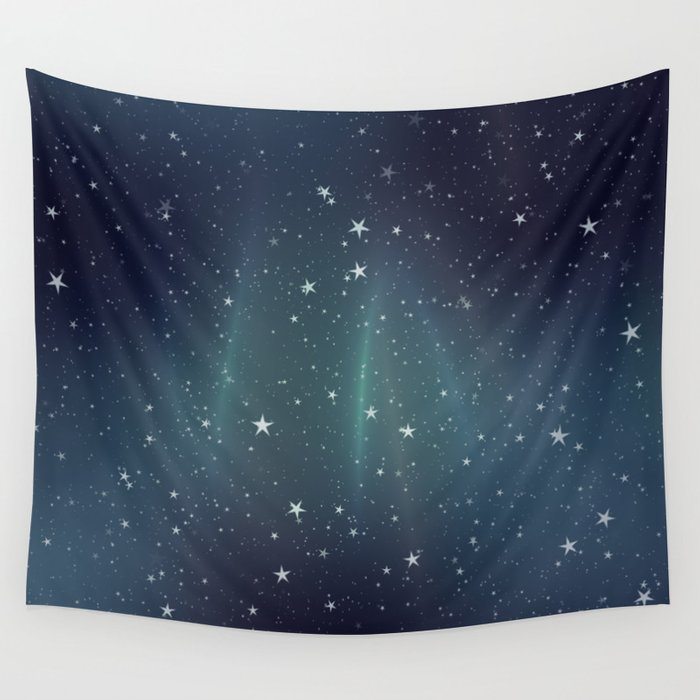 Aurora Stars Wall Tapestry