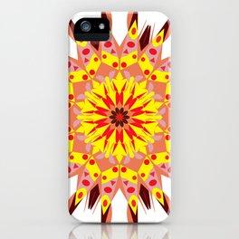 vintage sunflower mandala iPhone Case