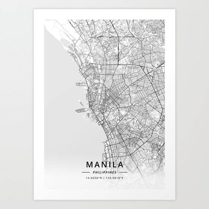 Manila, Philippines - Light Map Art Print by designermapart on hanoi vietnam map, jakarta indonesia map, singapore map, manila suburbs, davao city, mumbai india map, delhi india map, ho chi minh city, quezon city, dhaka bangladesh map, phnom penh cambodia map, beijing china map, mexico city map, luzon map, istanbul turkey map, manila street food in, phnom penh, new delhi, cebu city, metro manila, sao paulo brazil map, kuala lumpur, japan map, moscow russia map, cairo egypt map, bangkok thailand map, malaysia map, manila phillipines,