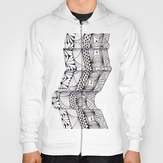 Zentangle Architectural Molding Hoody