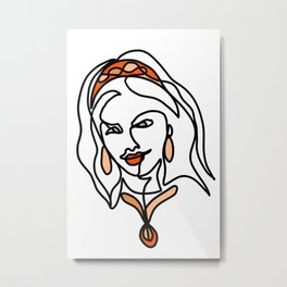 Female with a headband Metal Print