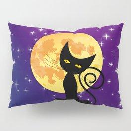 Cat in starry night Pillow Sham