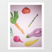 Vegetable Party Art Print