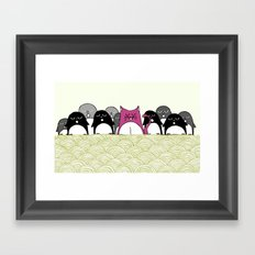 Tabs and the Penguin Nation Framed Art Print