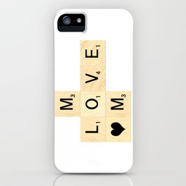 MOM - Mother's Day Scrabble Art iPhone Case