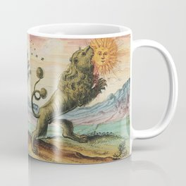 The Lion Eating The Sun Antique Alchemy Illustration Coffee Mug