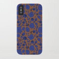 Bright Purple Florals Pattern iPhone X Slim Case