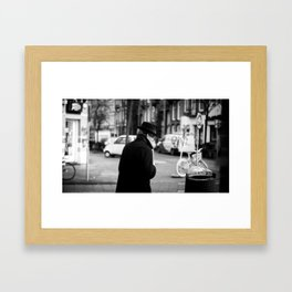 The Man in the Trench Coat Framed Art Print