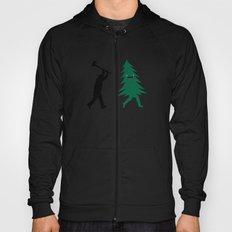 Funny Christmas Tree Hunted by lumberjack (Funny Humor) Hoody