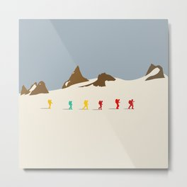 Wes Anderson Hiking Metal Print