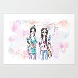 Unicorn Vibes Art Print