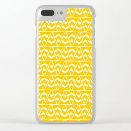 taos, triangle rug pattern Clear iPhone Case
