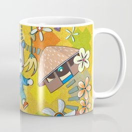 My Village, My Fans, My Flowers in the Golden 60s Coffee Mug