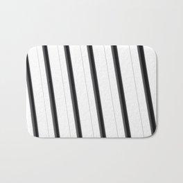 Big White Stripes Bath Mat