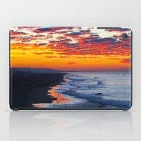 calendars iPad Cases featuring Sunrise Huntington Beach Pier   12/12/13 by John Minar Fine Art Photography