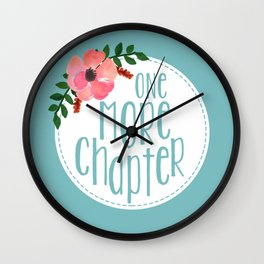 One More Chapter -Baby Blue Wall Clock