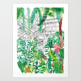 Palmhouse Art Print