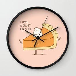A pie's crush Wall Clock