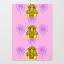 Teddy Bear Print Canvas Print