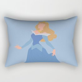 Sleeping Beauty - Blue Rectangular Pillow