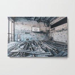 Chernobyl basketball court Metal Print