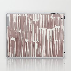 Simply Bamboo Brushstroke Red Earth on Lunar Gray Laptop & iPad Skin