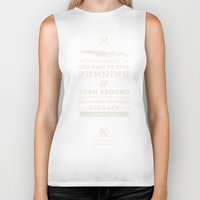 katniss Biker Tanks featuring Katniss Everdeen  by thatfandomshop