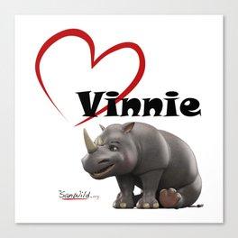Love Vinnie  Canvas Print