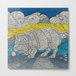 Hippo Lippo Metal Print