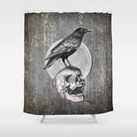 brad pitt Shower Curtains featuring Together Forever - Circle by Puddingshades