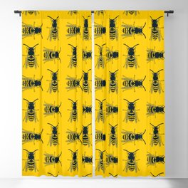 Bee's Yellow Blackout Curtain