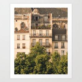 Sunny Paris Art Print