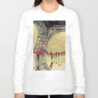 paris Long Sleeve T-shirts featuring Winter in Paris by takmaj