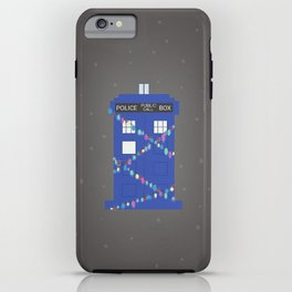 tardis at christmas (snowy) iPhone Case