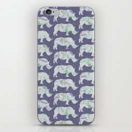 speckled rhinos iPhone Skin