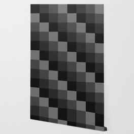 Four Shades of Black Square Wallpaper